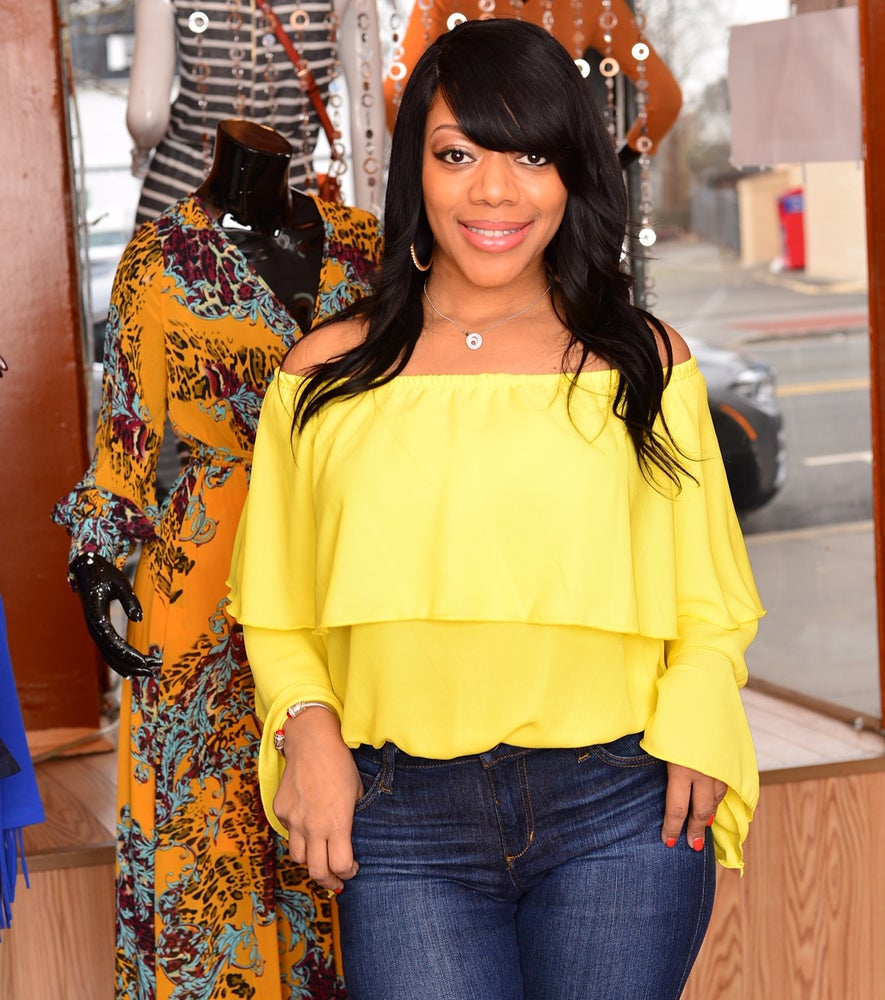 Image of Yellow Ruffle Off The Shoulder Top