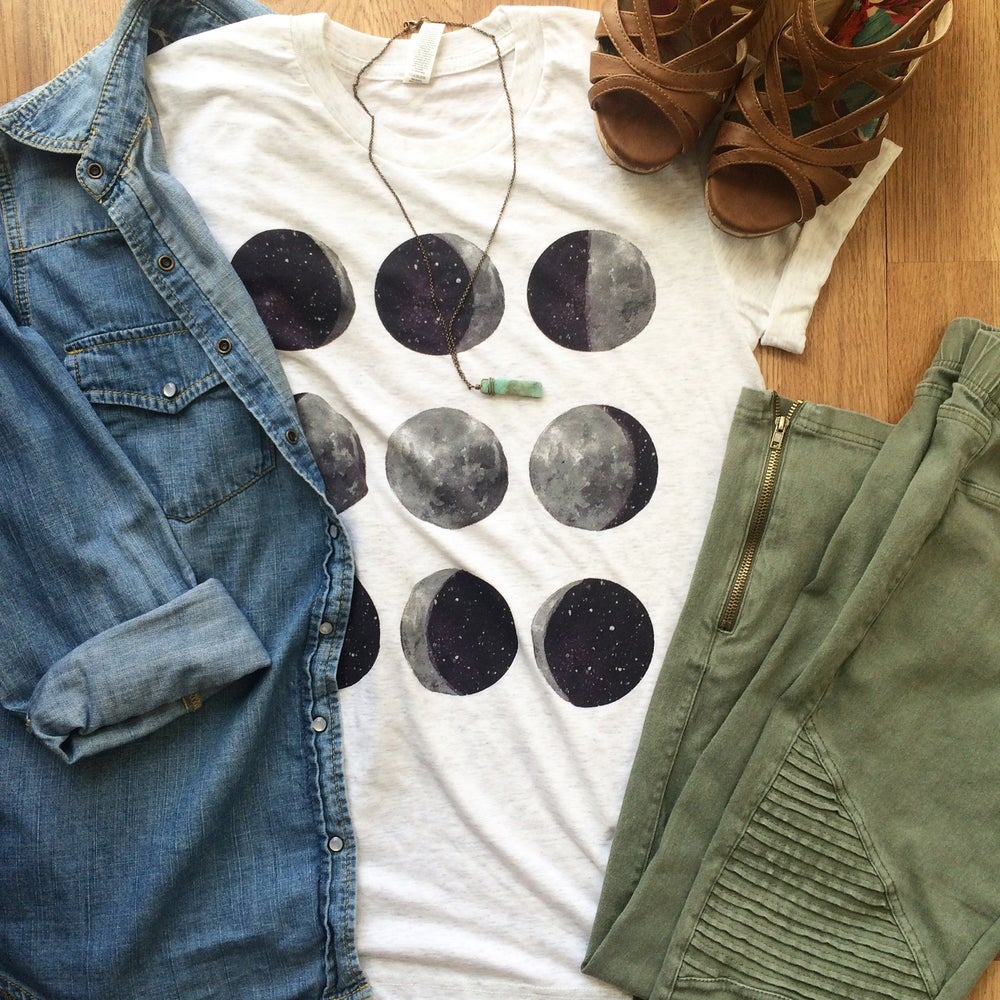Image of Moon phases shirt