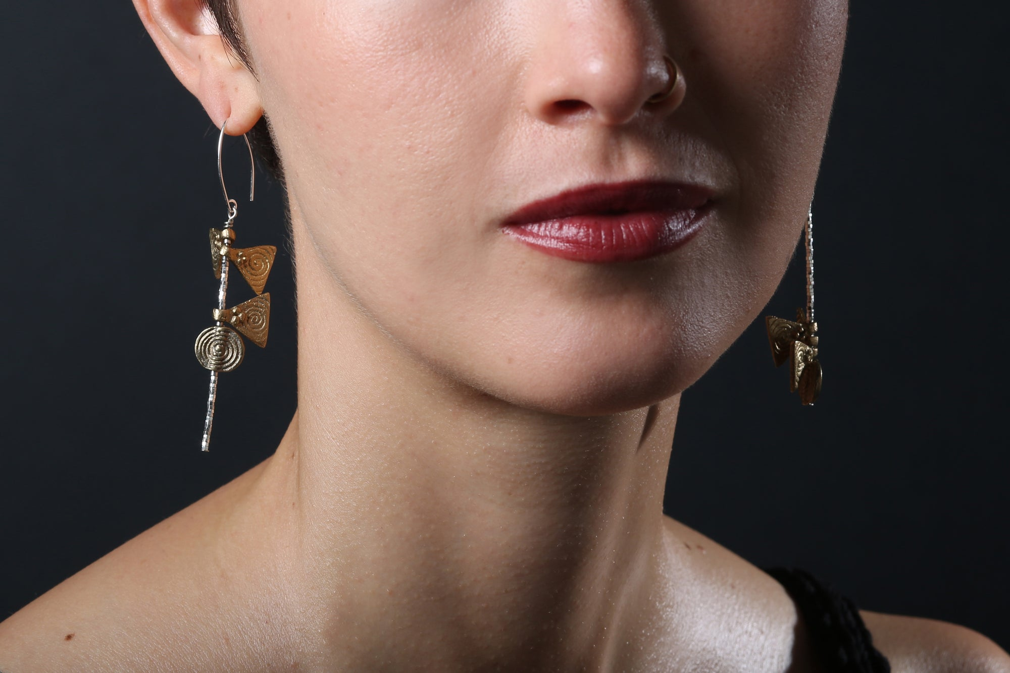 Image of Asymmetrical Kite Earrings