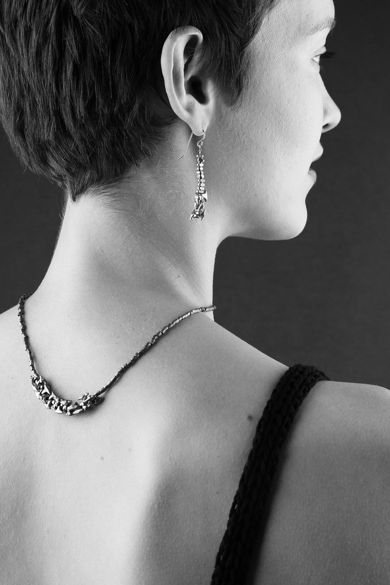 Image of Asymmetrical Sloughgrass Earrings
