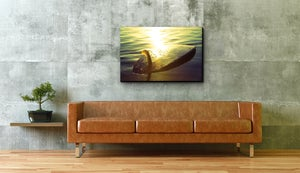 Image of GOLDEN FIN  - (Metal or Canvas)