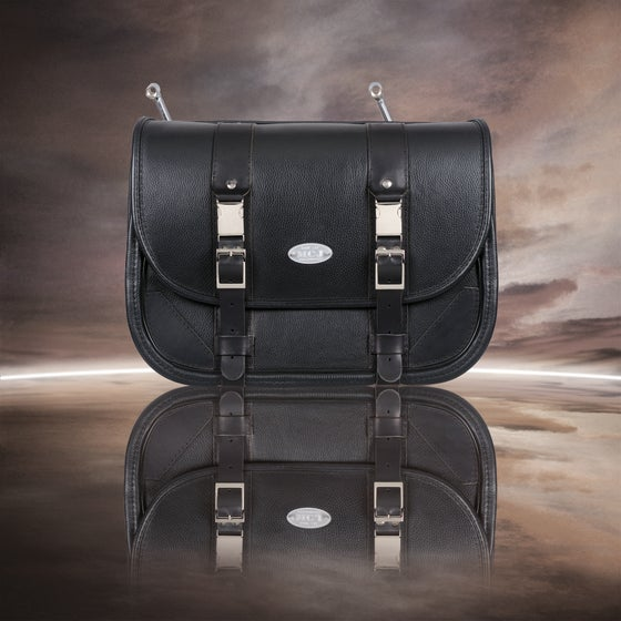 "Image of MCJ ""CLASSIC BLACK"" BAG WITH BLACK SEAMS"