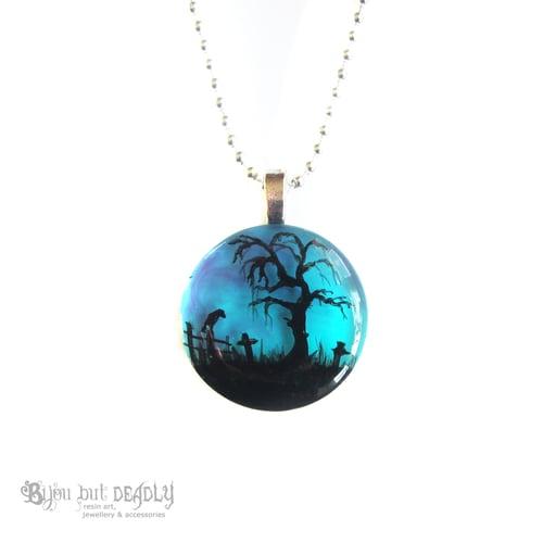Image of Spooky Tree Twilight Resin Pendant