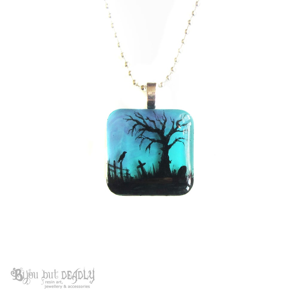 Spooky Tree Twilight Resin Pendant