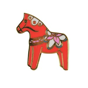 Image of *NEW* Dala Horse Pin