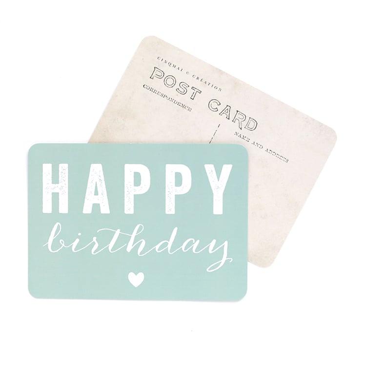 Image of Carte Postale HAPPY BIRTHDAY / COEUR
