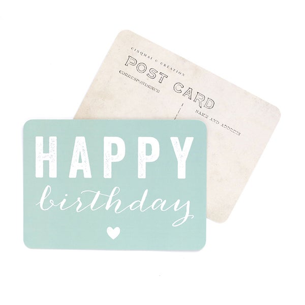 Image of Carte Postale HAPPY BIRTHDAY / COEUR