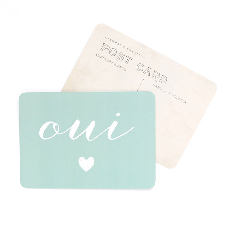 Image of Carte Postale OUI / COEUR