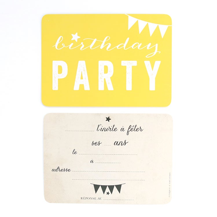 Image of 5 Cartes Postales BIRTHDAY PARTY