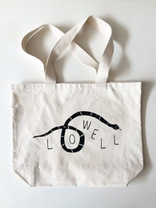 Image of LOWELL snake tote bag