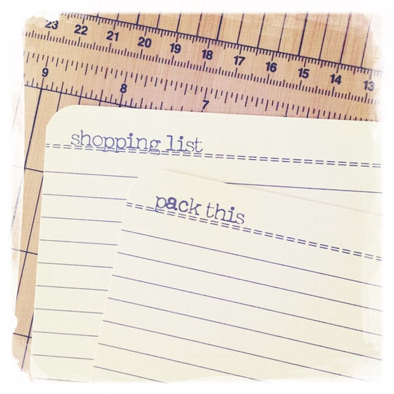 Image of list maker//paper hoarder note cards - freaky typewriter