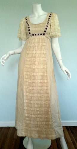 Image of Linen Boho Dress