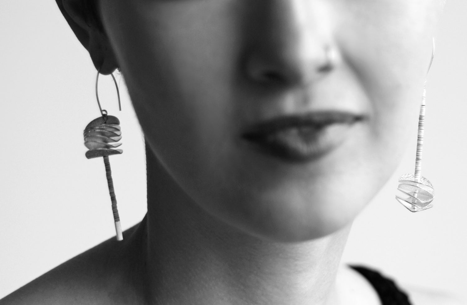 Image of Asymmetrical petal earrings