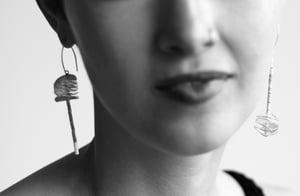 Image of Asymmetrical petal earrings