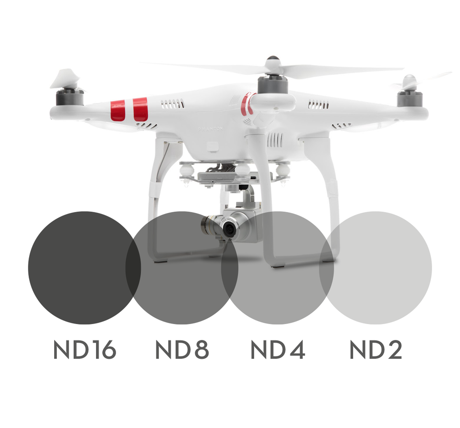 Image of 4-pack Neutral Density filters for DJI Phantom 2 Vision+