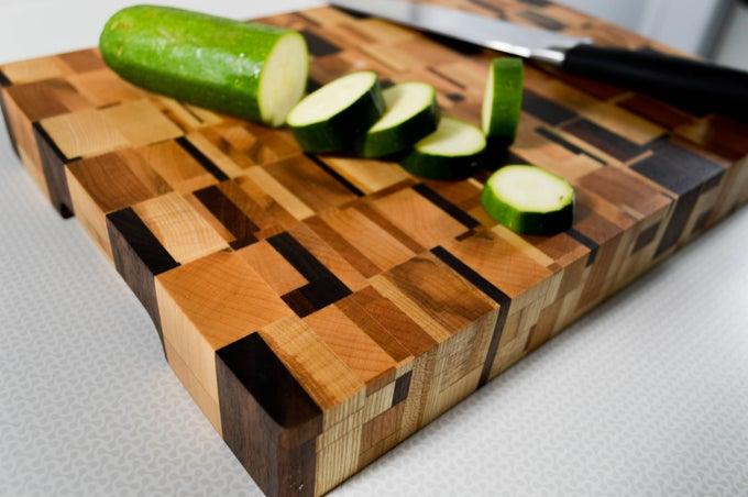 "Image of 12""x 10"" Chaotic End Grain Cutting Board"