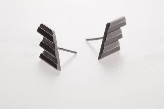 Image of THE ROSA TILE EARRINGS