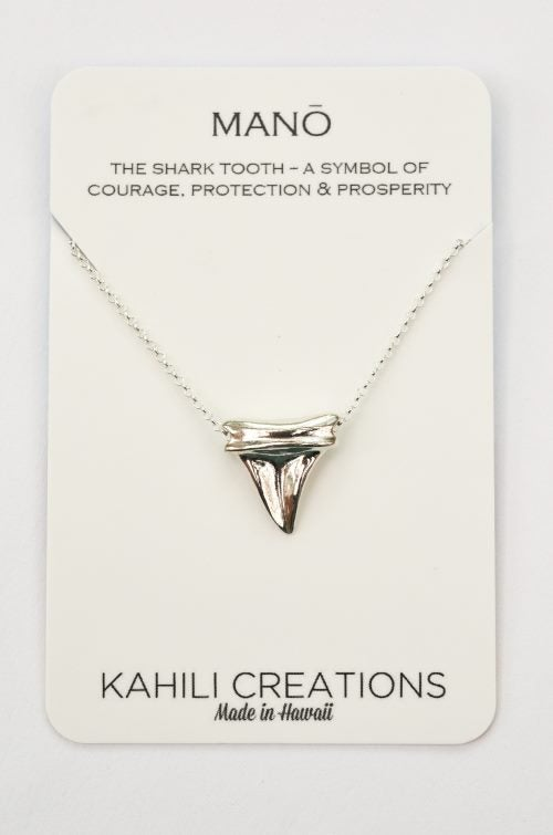 Image of Shark Tooth Necklace Sterling Silver