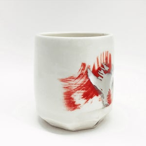 Image of red & silver tumbler