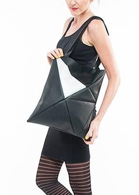 Image of GEO Bag black silver