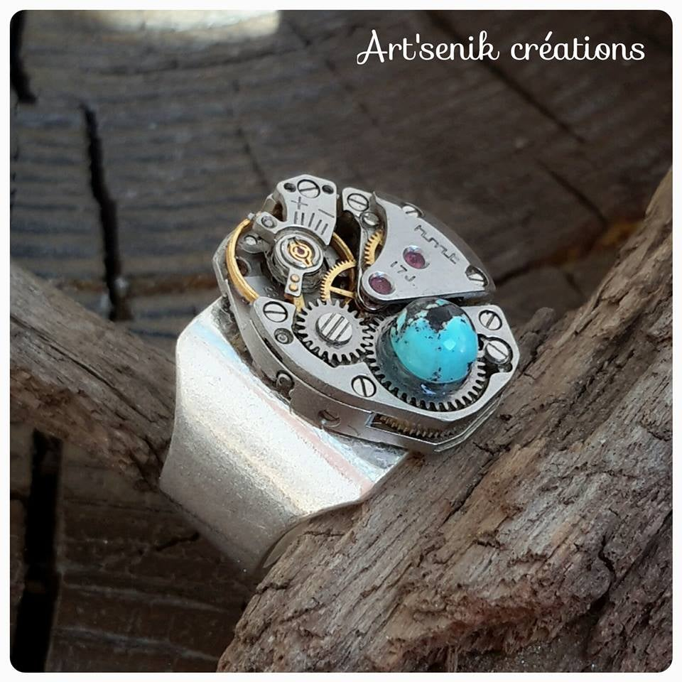 Image of chevalière Turquoise