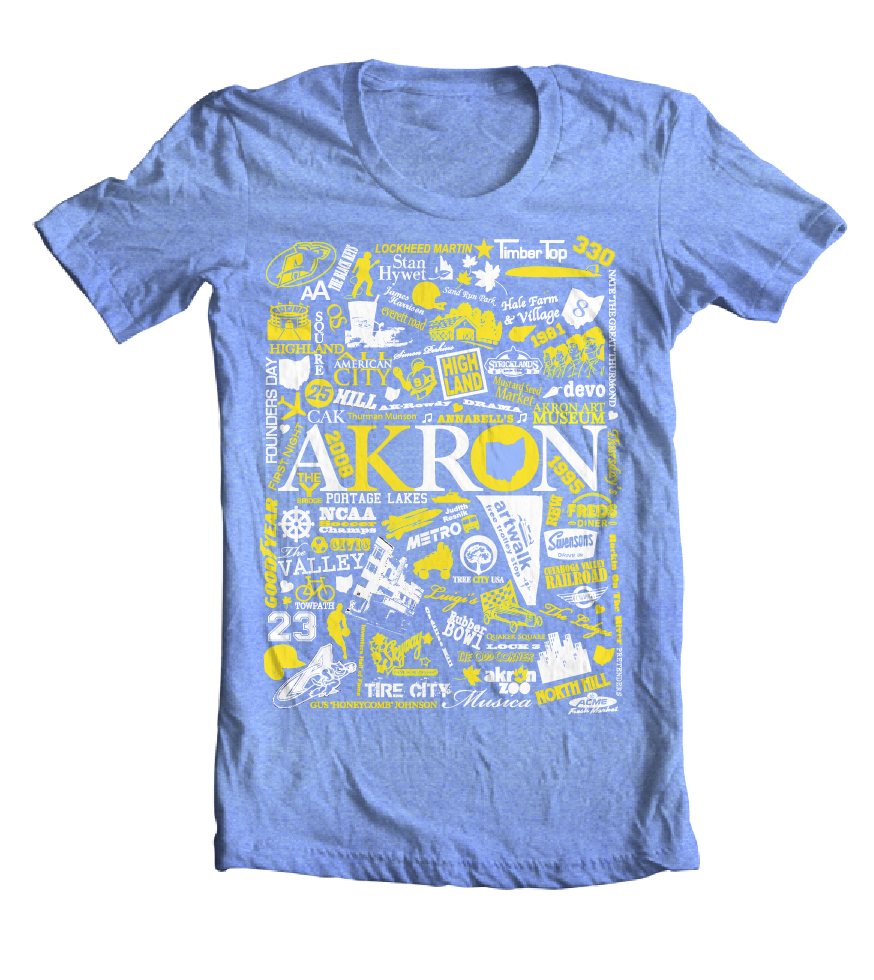 Image of Akron DiverCity Tee - Unisex Crew (Heather Royal ColorWay)