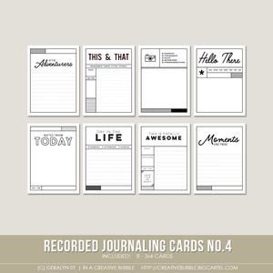 Image of Recorded Journaling Cards no.4 (Digital)