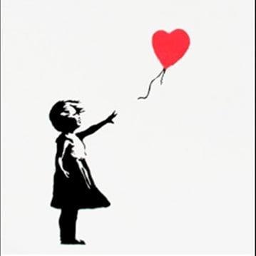 Image of Banksy - Girl with balloon, signed (Girl And Balloon) *POA*