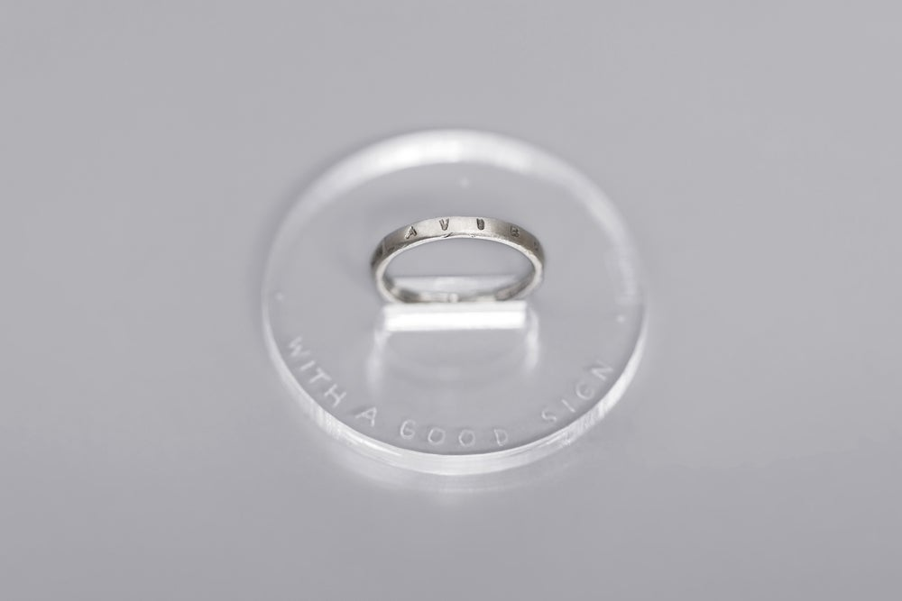 Image of MINI silver rings with inscription in Latin