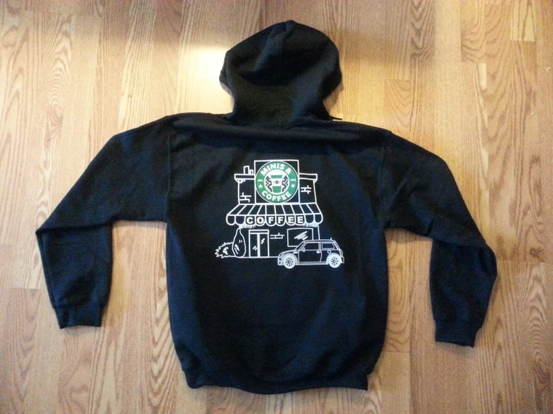 Image of MINIS & COFFEE PULL OVER OR ZIPPERED HOODIE