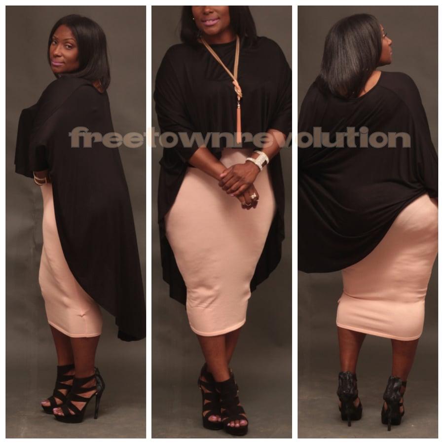 Image of Long highwaist skirt