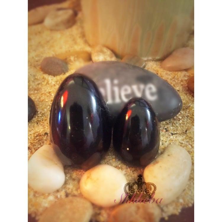 Image of Black Obsidian Yoni Egg