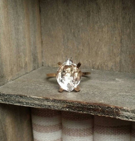Image of Herkimer Solitaire Ring