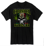 Image of CRONICA MEXICAN KUSH BLACK T-SHIRT