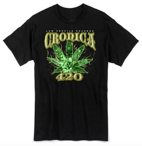 Image of CRONICA 420 BLACK T-SHIRT