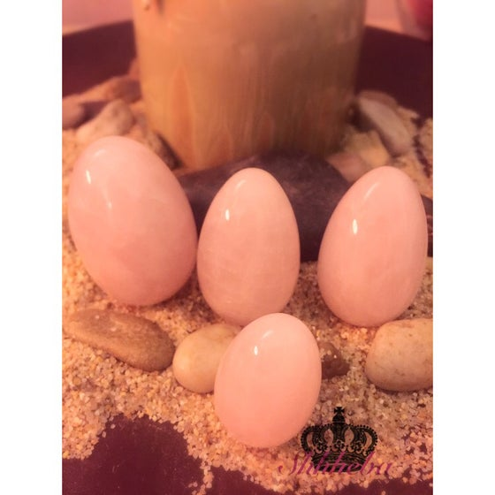 Image of Rose Quartz Yoni Egg