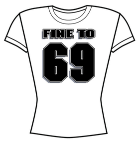 Image of FINE TO 69 GIRLS white T-SHIRT