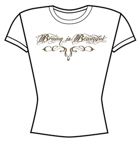 Image of Brown is Beautiful girls white T-SHIRTS