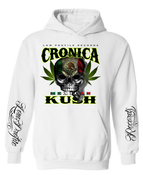 Image of CRONICA MEXICAN KUSH WHITE T HOODIES