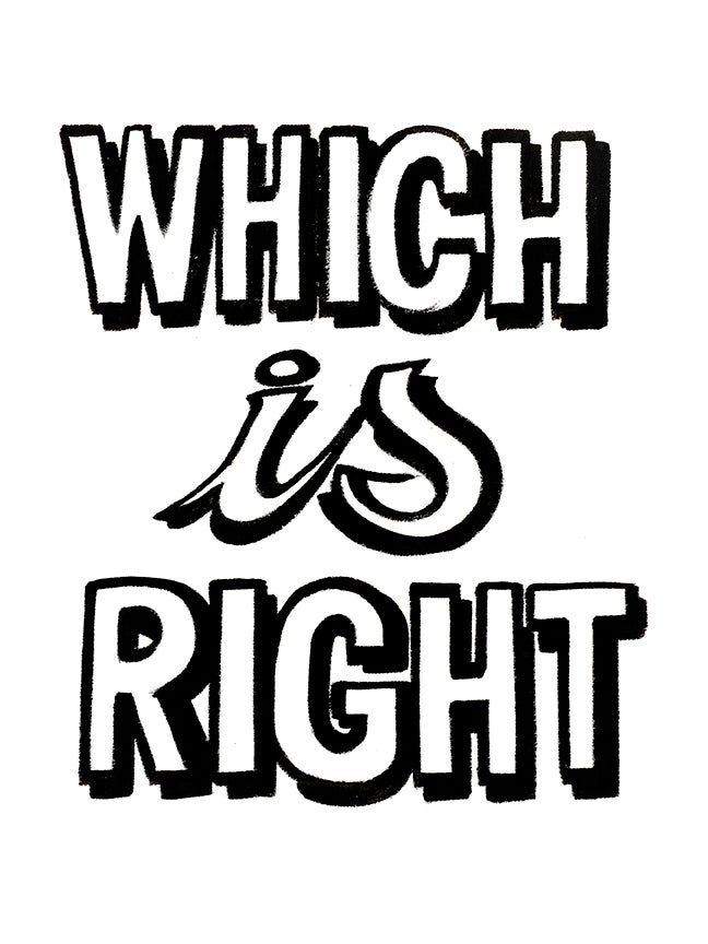 Image of Which Is Right Print by Nurse Signs