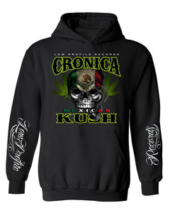 Image of CRONICA MEXICAN KUSH BLACK  HOODIE