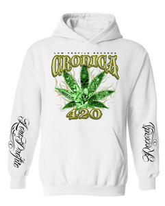 Image of CRONICA 420 WHITE HOODIE