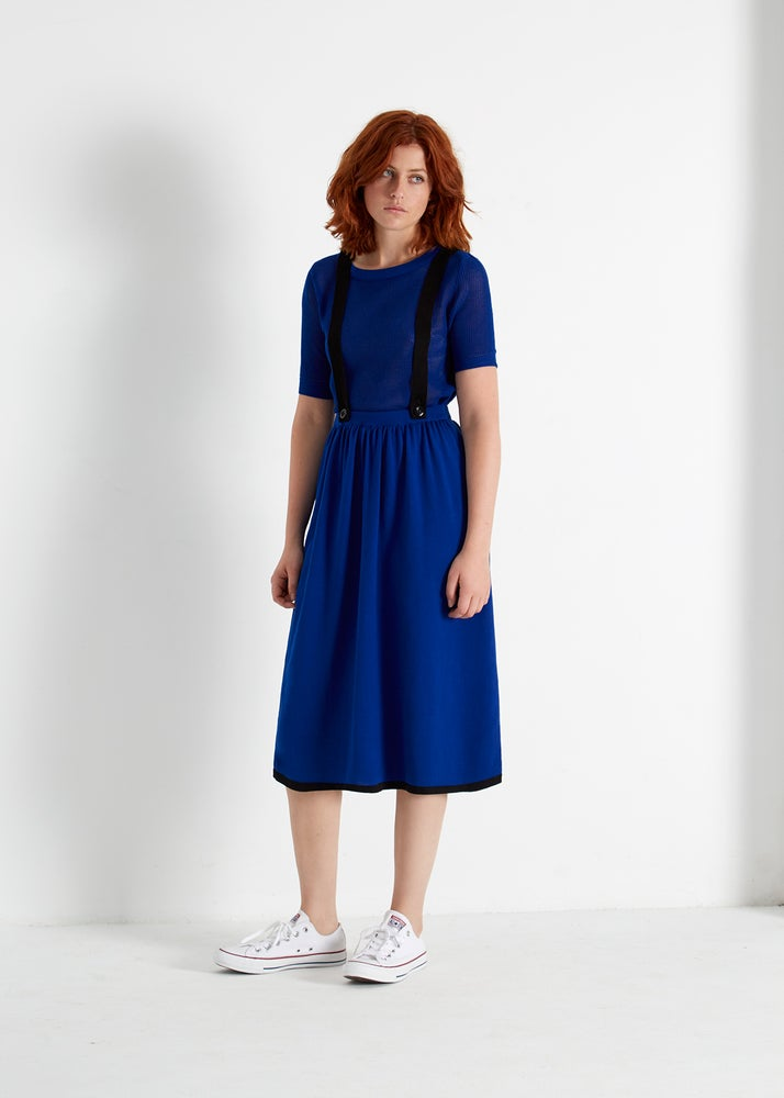 Image of TWILIGHT OVERALL SKIRT BLUE
