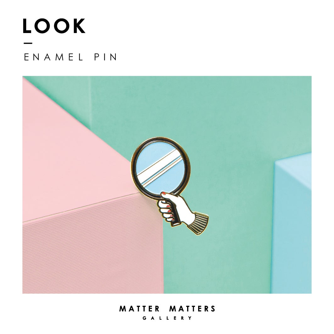 Image of Look into- Enamel pin *18K- Gold Plated