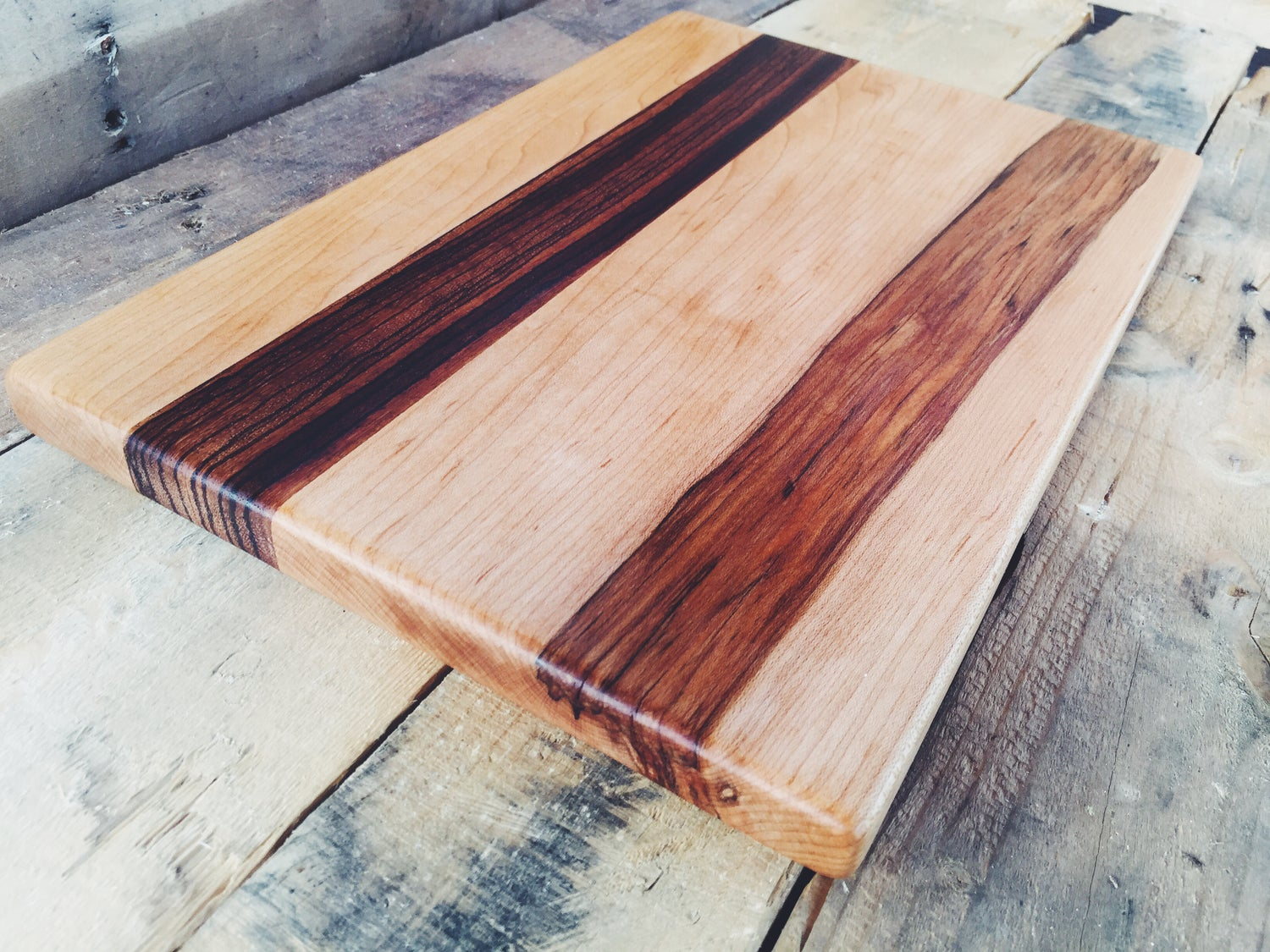 Image of Zebra Wood and Spalted Maple Board