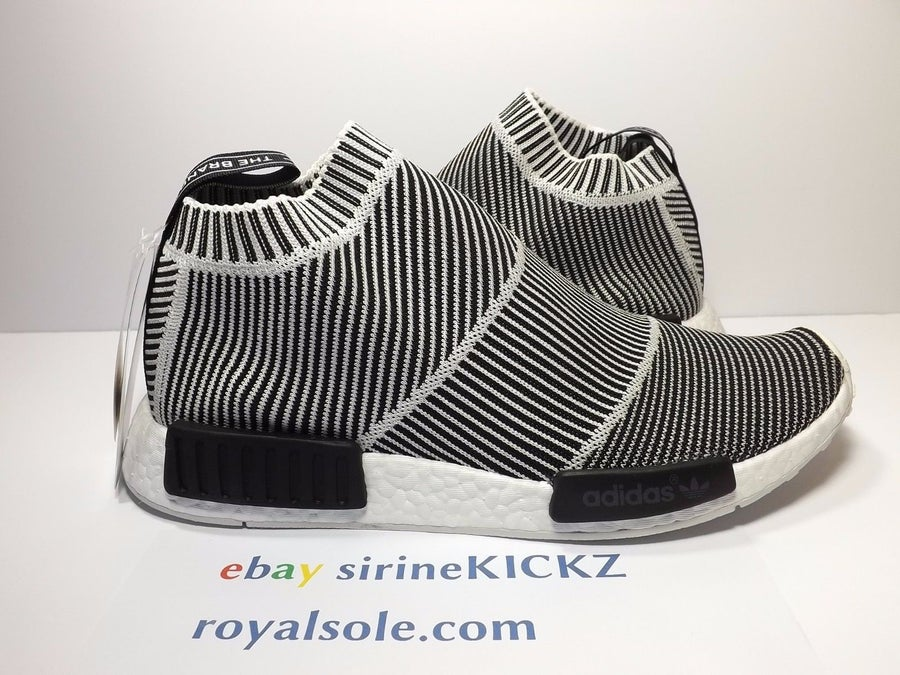 Image of ADIDAS NMD CITY SOCK PRIMEKNIT NMD_CS1 PK BLACK WHITE S79150