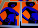 "Image of ""Afro Girl"" Blue and Orange"