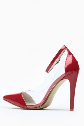 Image of Lola Single Sole Pump (PU Leather Red)
