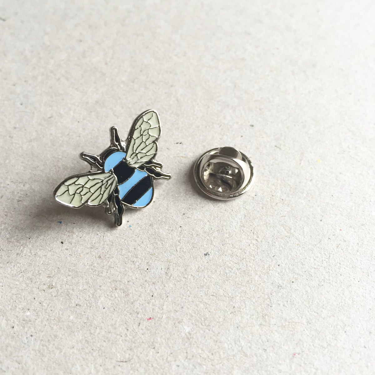 Image of Manchester Bee Blue Enamel pin badge