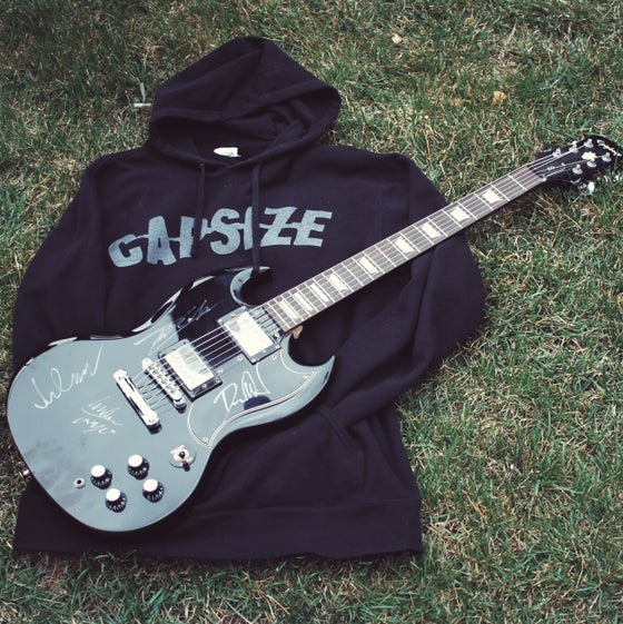 Image of Autographed Guitar & Exclusive Hoodie Raffle